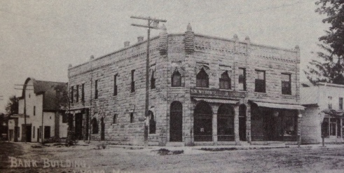 Bank building of Lyons, MI, early 1900's after S.W. Webber purchased it.