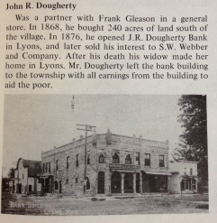 John R. Dougherty built the J.R. Dougherty Bank in 1876.